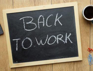 Rientro al lavoro: buone pratiche per ripartire bene